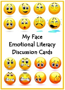 My Face Emoji Emotional Literacy Discussion Cards